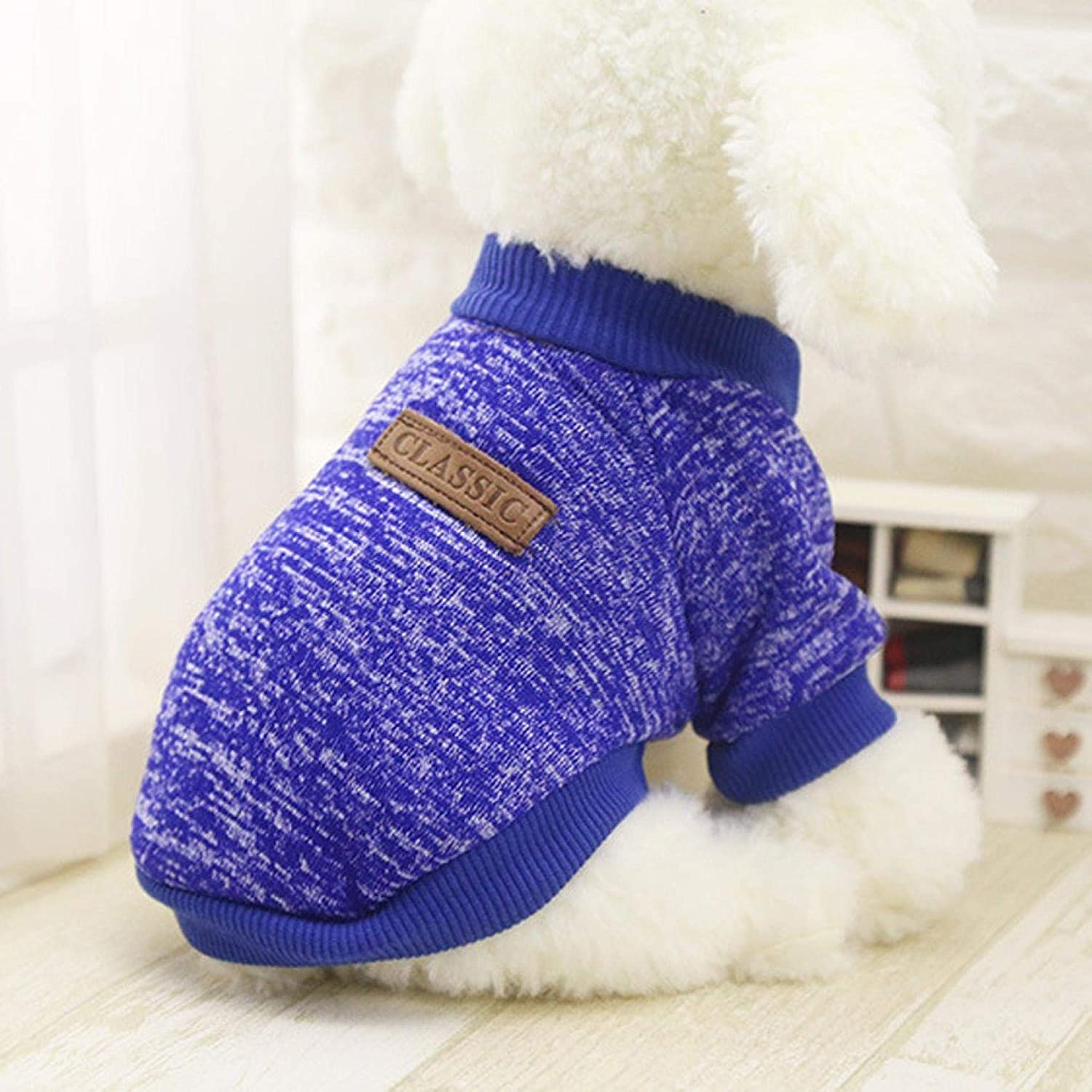 Kniskelop Pet Dog Sweater Warm Dog Pajamas Soft Cat Sweater Puppy Clothes Small Dogs Sweater Winter Doggie Sweatshirt