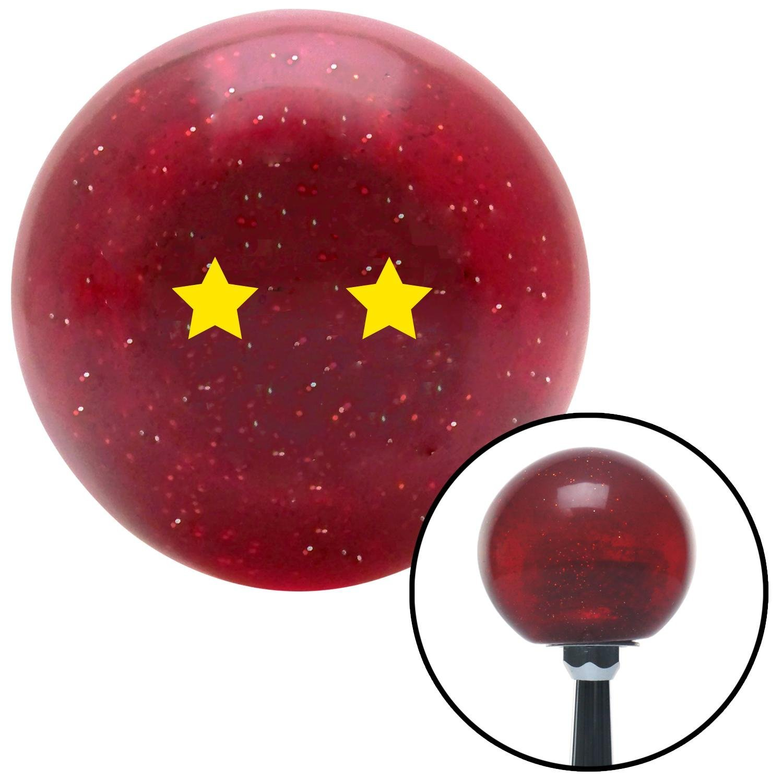 American Shifter 141662 Red Metal Flake Shift Knob with M16 x 1.5 Insert Yellow Dragon Ball Z - 2 Star