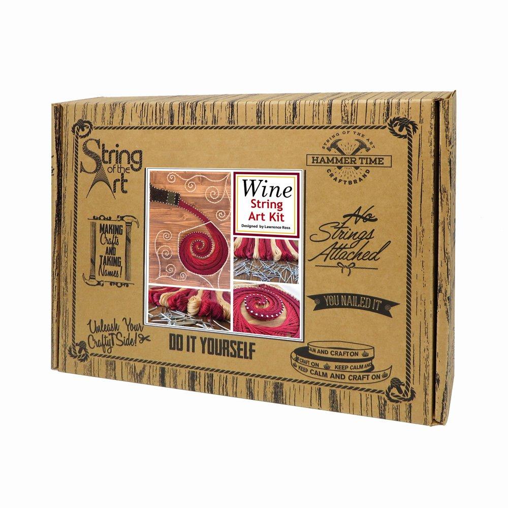 String art craft kit - Amazon Com String Art Kit Wine String Art Adult Crafts Kit Diy Crafts Arts And Crafts Kit Wine Decor String Art Pattern And Supplies