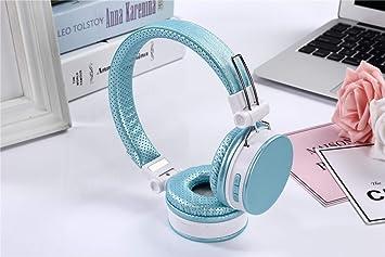 Auriculares,Deportes inalámbricos en la Cabeza Deportes Bluetooth Juego de música Auriculares Usan cómodos Auriculares de Moda, Azul Claro: Amazon.es: ...