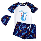 Baby Boys Dinosaur Printed Swim Jumpsuit Little