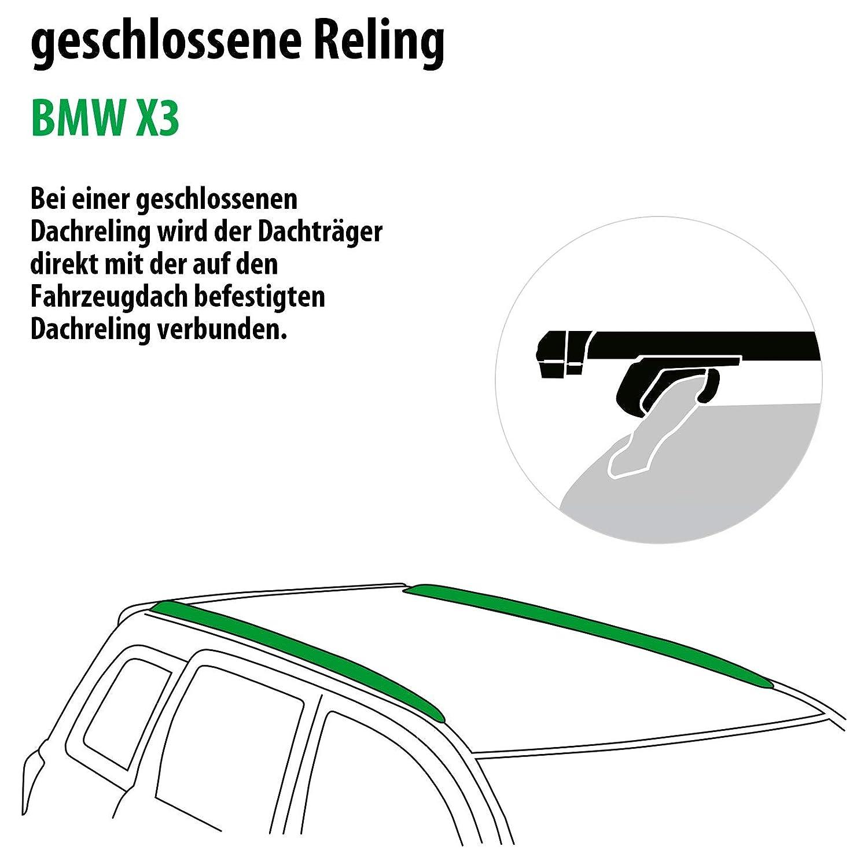 Dachtr/äger Pick-Up f/ür BMW X3 111287-38057-1 Rameder Komplettsatz