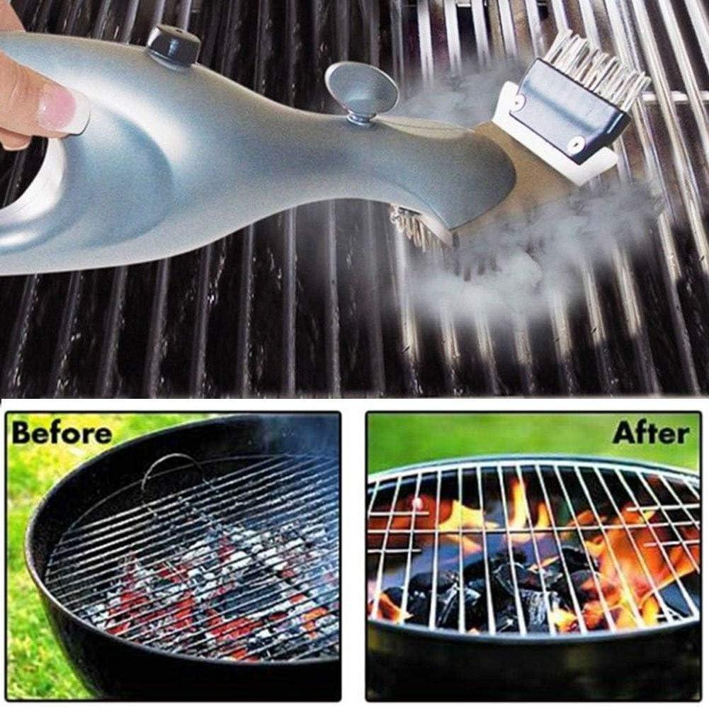 Neue Edelstahl Dampf BBQ Grill kochen Werkzeug Reinigungsbürste Outdoor-Reiniger