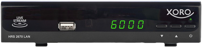 Xoro HRS 2670/ricevitore satellitare LAN HDMI, Scart, Media Player, LiveTV-streaming, 2/x USB, SAT su IP nero