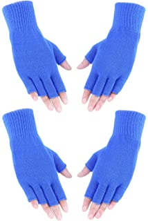 caripe Damen Herren Armstulpen Stulpen Fleece Handschuhe fingerlos 38159