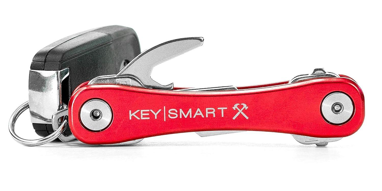 KeySmart Rugged Key Holder | Multi-Tool Style Compact Key Chain and Key Organizer Black) Curv Group KS607r-Black