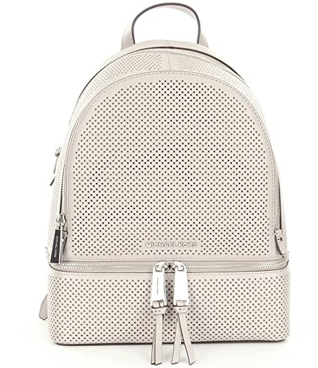 e2c3032454a7d2 MICHAEL MICHAEL KORS Rhea Medium Perforated Leather Backpack Cement ...