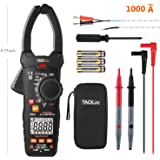 Clamp Meter, Tacklife CM04 9.77 Inches Multimeter Auto-Ranging 6000 Counts Electrical Tester, MAX 1000A AC Current, AC/DC Voltage, Ohm, Hz, LowZ, NCV VFD, Continuity, Capacitance Professional Meter