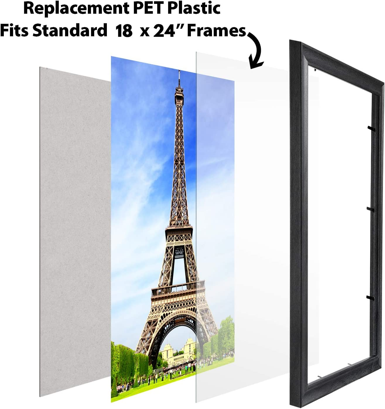 EUROLINE35 Picture Frame 45x115 Or 115x45 CM With Entspiegeltem Acrylic Glass