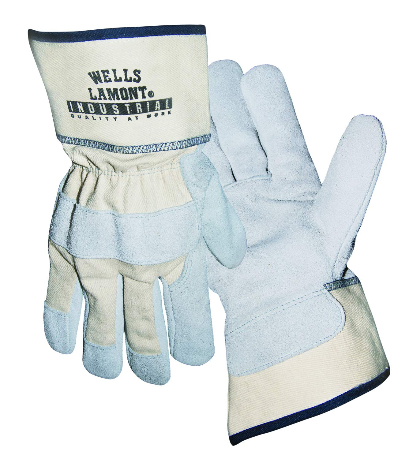 Wells Lamont Industrial Y3024L Leather Palm Gloves Premium Split Leather Palm with Whizard Liner. Safety Gloves (Pack of 12 Pairs)