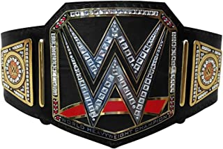 WWE World Heavy Weight Championship Belt Adult Replica Genuine Leather Title Belts Black