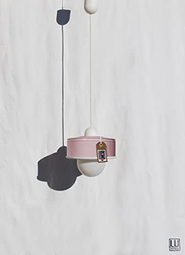 ♥ Lámpara de techo hecha a mano, en color rosa pastel ...