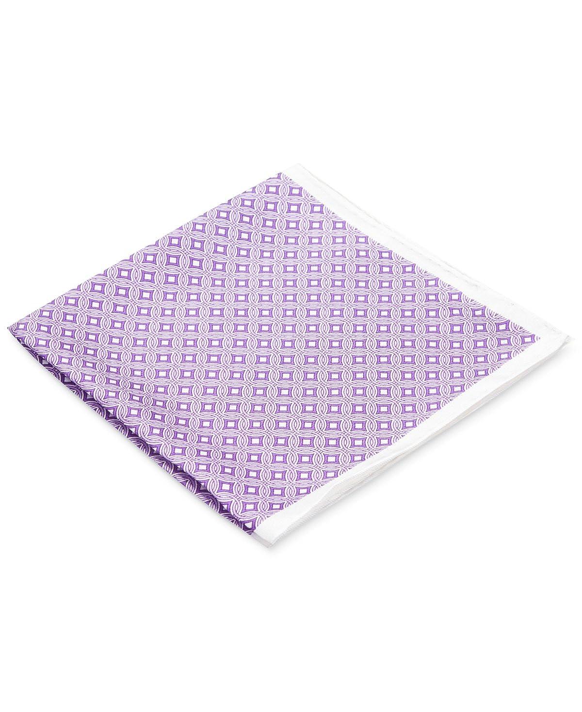 Ryan Seacrest Distinction Pacific Geo Pocket Square Purple