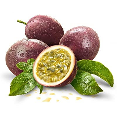 LEANO 20pcs Organic Tropical Passion Fruit Seeds Passiflora Edulis Passion Flower Seeds Heirloom Non-GMO for Home Garden Planting : Garden & Outdoor