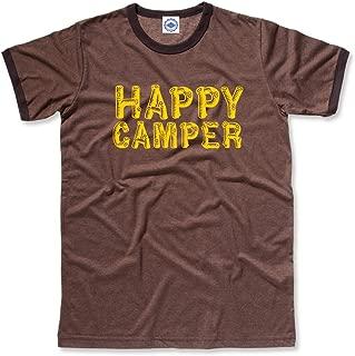 product image for Hank Player U.S.A. Happy Camper Men's Ringer T-Shirt