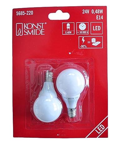 Konstsmide bombilla LED para patio, 2-unidades, 3 diodos de luz blanca fría