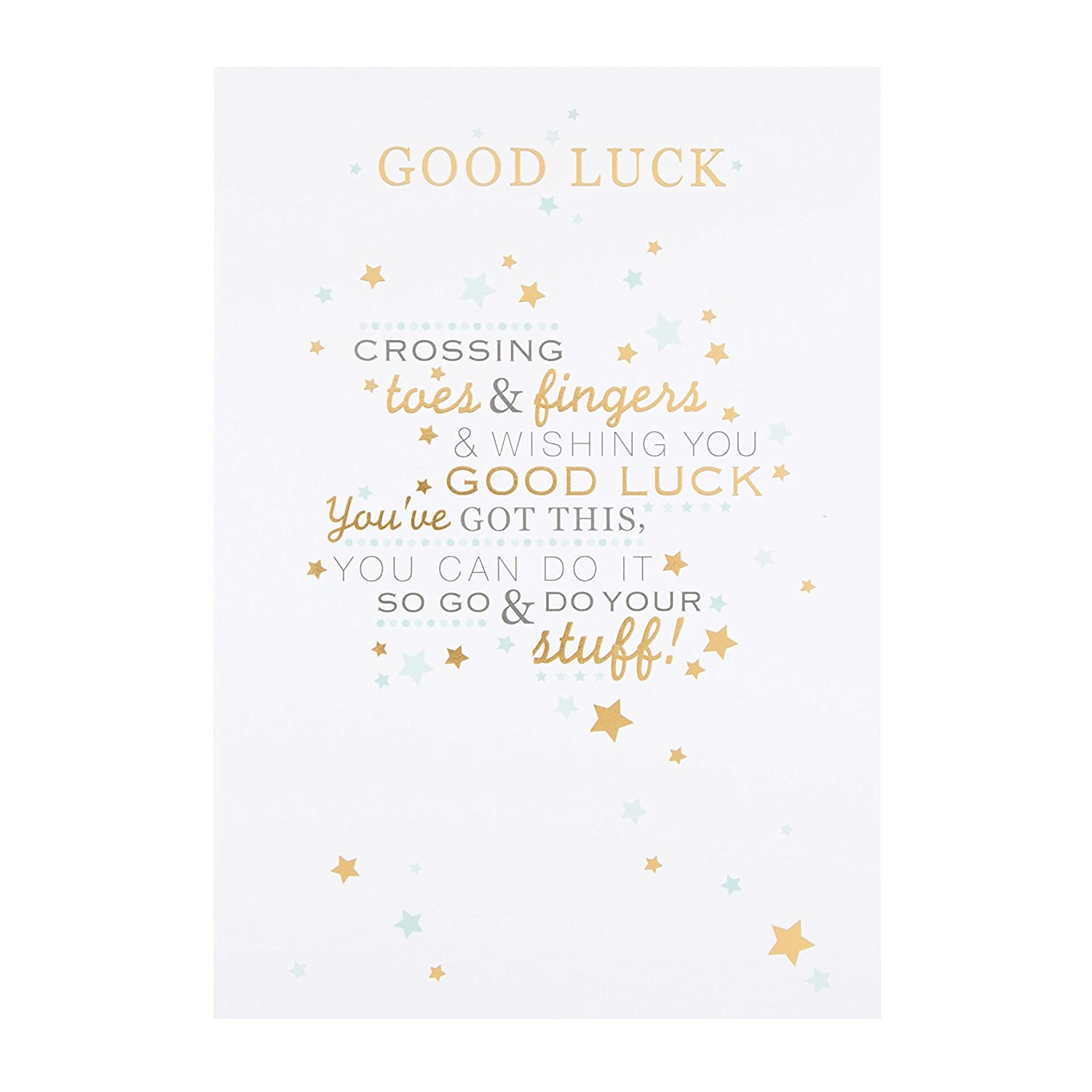 Medium Hallmark 25500666 Good Luck Card Toes and Fingers Crossed Old Model