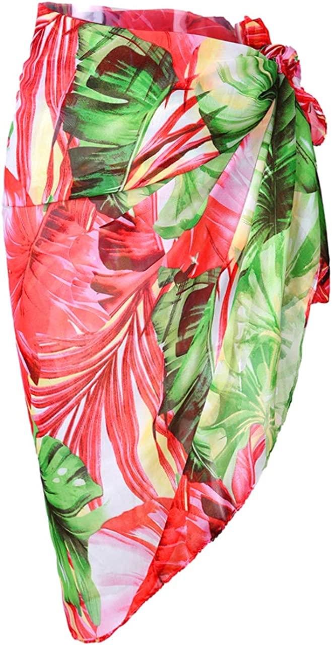 CHIC DIARY Women Swimwear Chiffon Pareo Beach Cover Up Bikini Sarong Swimsuit Wrap Skirts