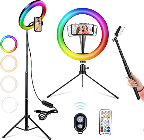Selfie Ringleuchte 26 Rgb Ringlicht Mit Stativ Led Kamera