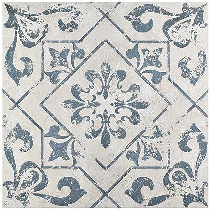 Amazon.com: Orleans Spanish Pattern 18x18 Ceramic Tile: Home Improvement