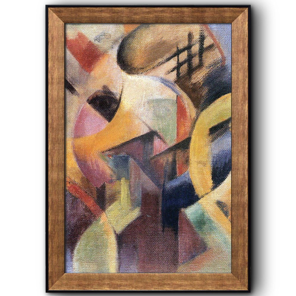 small composition abstract painting by franz marc framed art