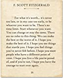 Amazon Price History for:F. Scott Fitzgerald - For What It's Worth. - 11x14 Unframed Typography Book Page Print - Great Gift for Book Lovers