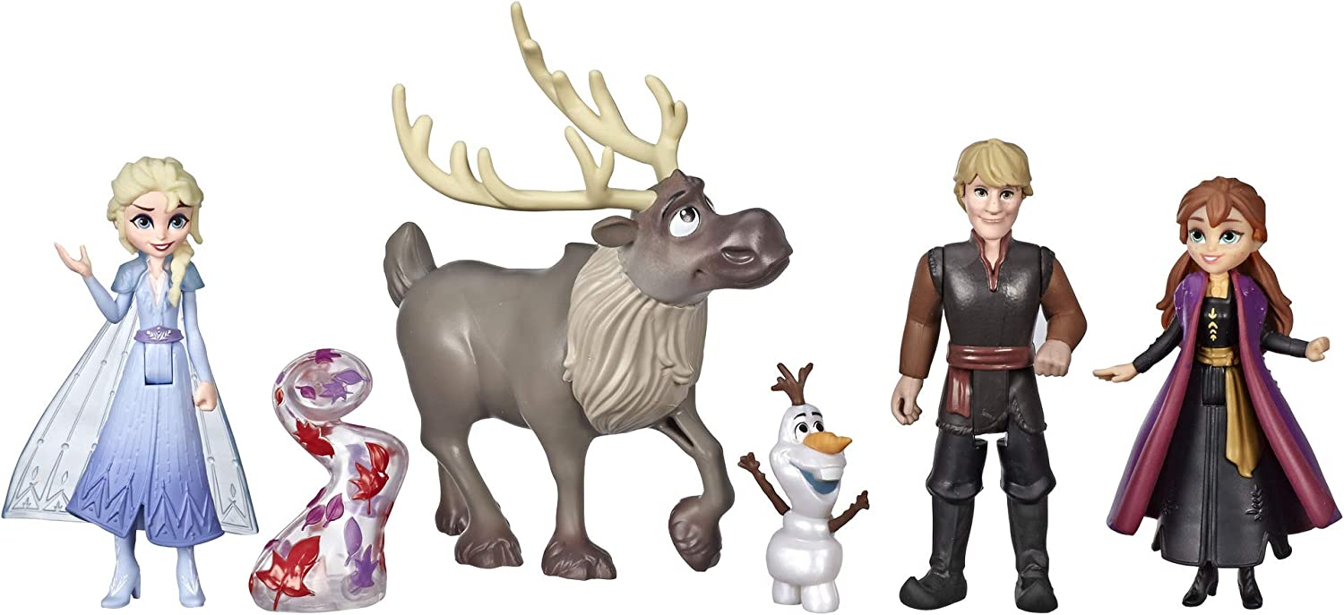 Disney Frozen Adventure Collection  5 Small Dolls from Frozen 2  Anna  Elsa  Kristoff  Sven  Olaf    Gale Accessory