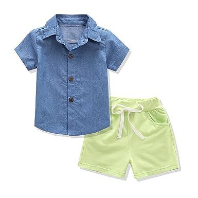 Amazon Com Kidsintime Baby Boys Shorts Denim Clothing Set Stylish