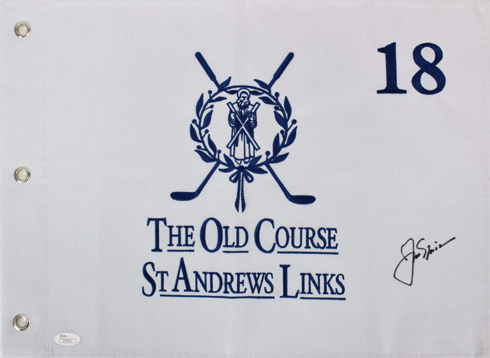 Jack Nicklaus Signed St. Andrews Links The Old Course Pin Flag #Z47852 JSA Certified Autographed Pin Flags