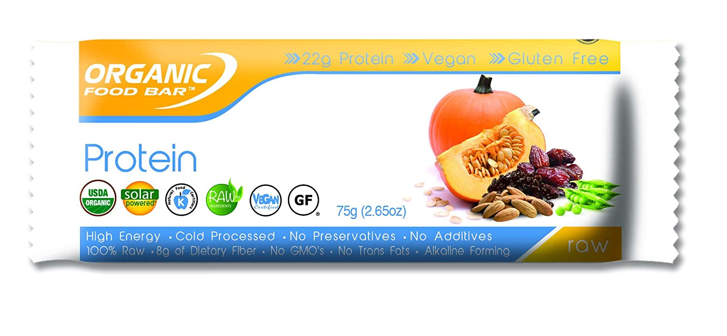 Organic Food Bar- Pumpkin & Pea Protein Bar, 75G