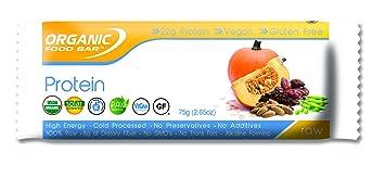Amazoncom Organic Food Bar Pumpkin Pea Protein Bar 75g Health