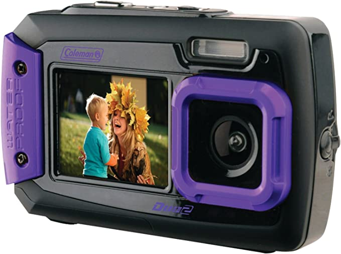 with Dual LCD Screens Coleman Duo2 18.0 MP HD Underwater Digital /& Video Camera Orange Waterproof to 10 ft. 2V8WP-O 2.7