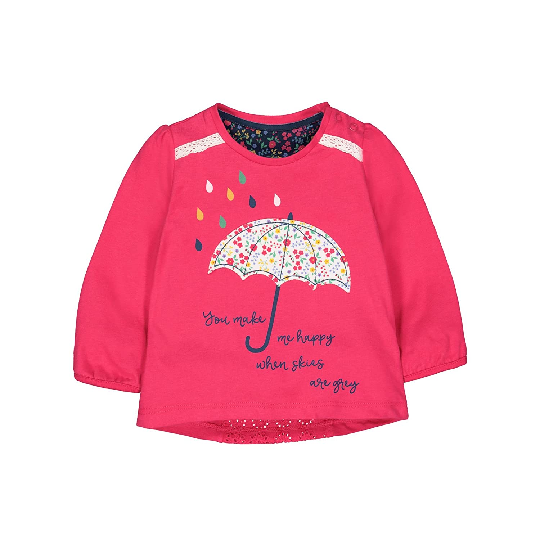 Mothercare Long Sleeve Red Umbrella Tee, T-Shirt Bébé Fille QB608