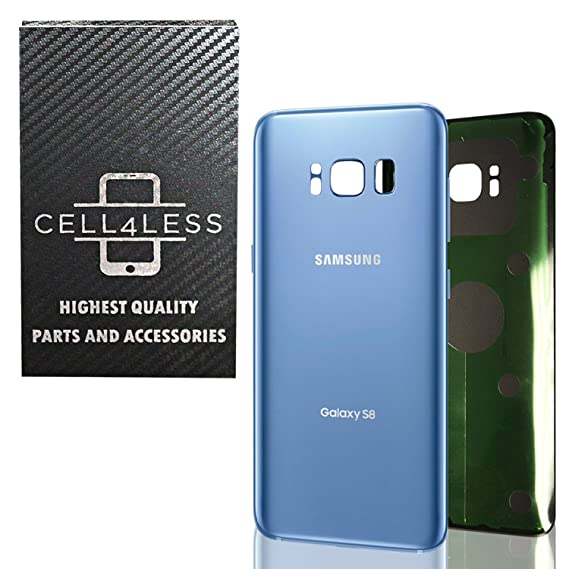 4c5f944732d CELL4LESS Replacement Back Glass Cover Back Battery Door w/Pre-Installed  Adhesive Samsung Galaxy