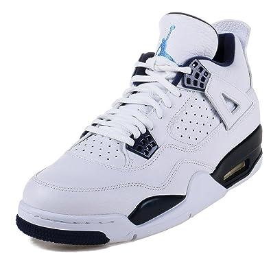 32ab4f5a26586b Nike Mens Air Jordan 4 Retro LS  quot Columbia quot  White Legend Blue-