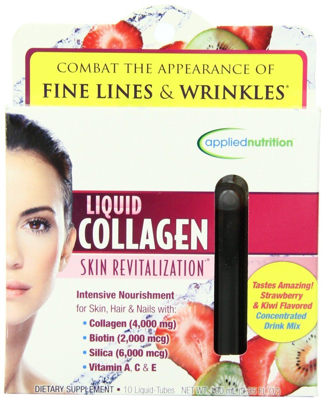 Colageno Liquido Hidrolizado Con Vitamina A y C - Colageno Natural Para La Cara Y Piel - Tienen El Mismo Efecto Como Ampolletas De Colageno - 10 Tubos ...
