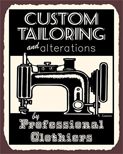 Vintage Look Metal Large Plaque Sign 30x20cm The Worlds Best Tailor