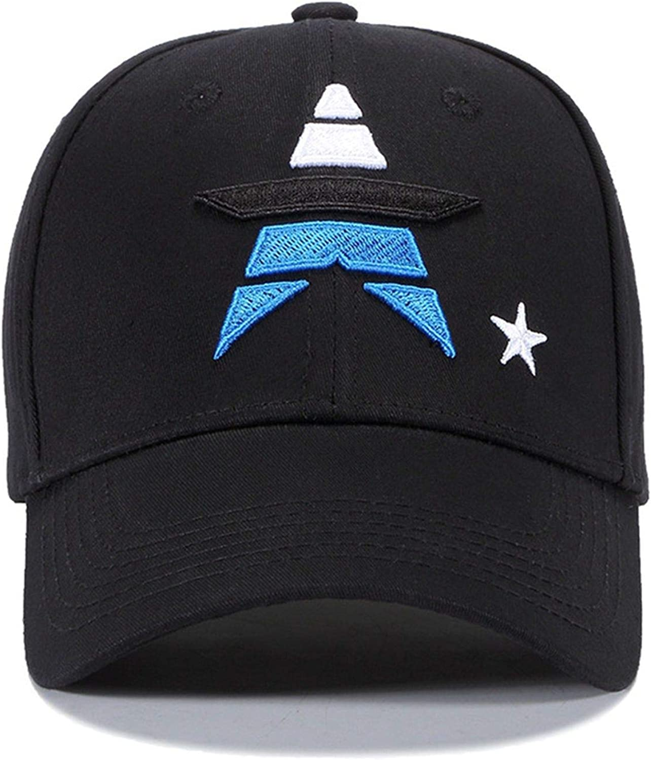 Eric Carl Fashion Embroidery Star Cotton Baseball Cap Men Women Hit Color Patchwork Star Hat Outdoor Casual Caps