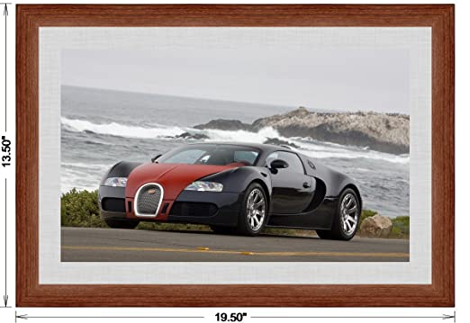 Amazon Bugatti Veyron Fbg Par Hermes 2008 Framed Car Art