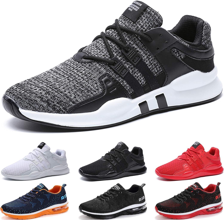 Zapatillas de Deporte Hombres Zapatos para Correr Gimnasio Running para Sneakers Deportivas Padel Transpirables Casual Montaña