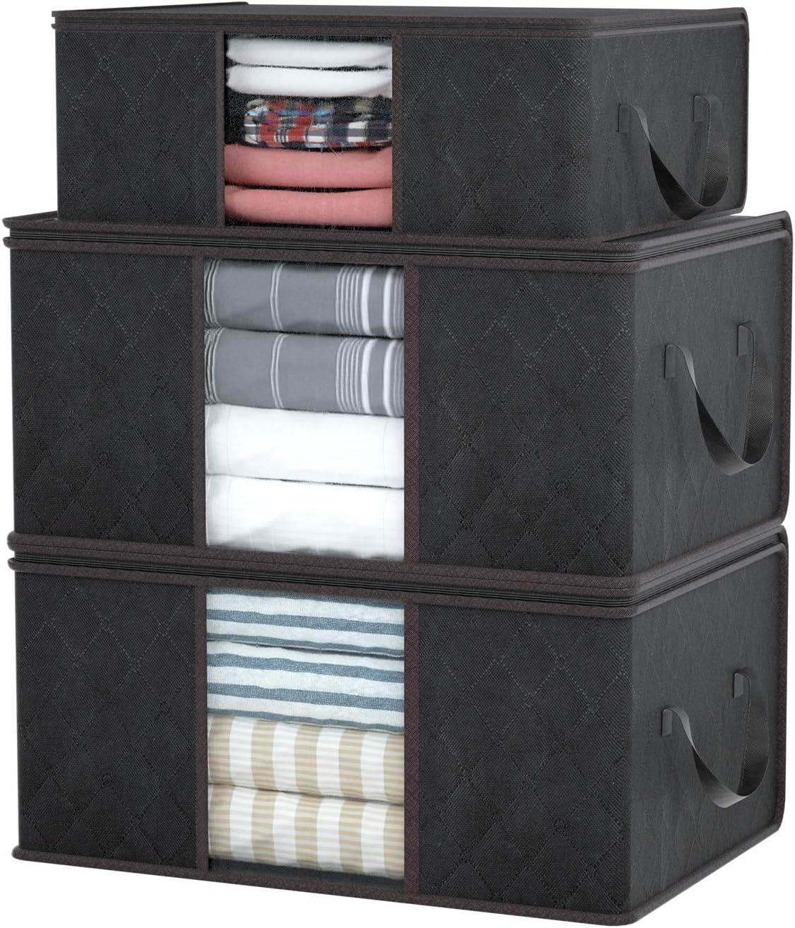 Grau Decken DIMJ 3 St/ück Aufbewahrungstasche Faltbare Aufbewahrungsboxen Kissen Quilt Saison Artikel Lagerung Kleidung Gro/ße langlebige f/ür Bettw/äsche