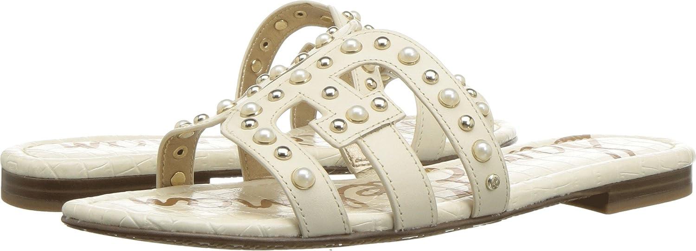 Sam Edelman Women's Bay 2 Slide Sandal B078WFBXG9 7 W US|Modern Ivory Vaquero Saddle Leather