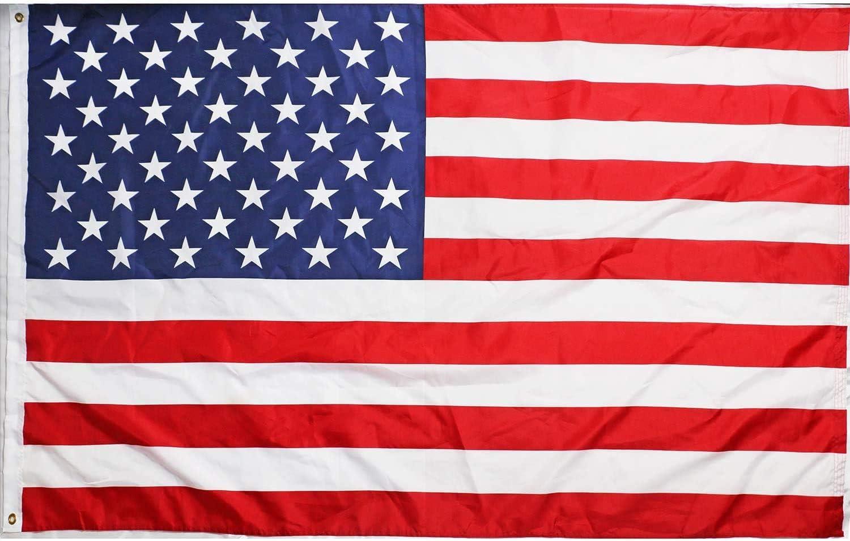 Ericraft Bandera EEUU Grande 90x150cms Bandera Americana balcón para Exterior Reforzada y con 2 Ojales metálicos, Bandera Estados Unidos: Amazon.es: Jardín