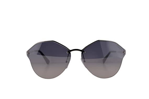 6083e5b639 Image Unavailable. Image not available for. Color  Prada PR68TS Sunglasses  Silver w Gradient Light Blue Mirror ...