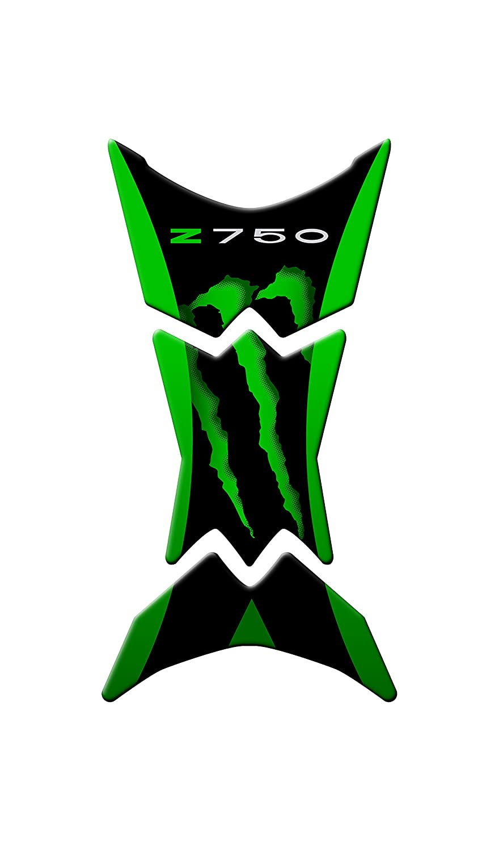K-006 TANK PAD Paraserbatoio RESINATO 3D COD COMPATIBILE PER MOTO KAWASAKI Z-750 Green