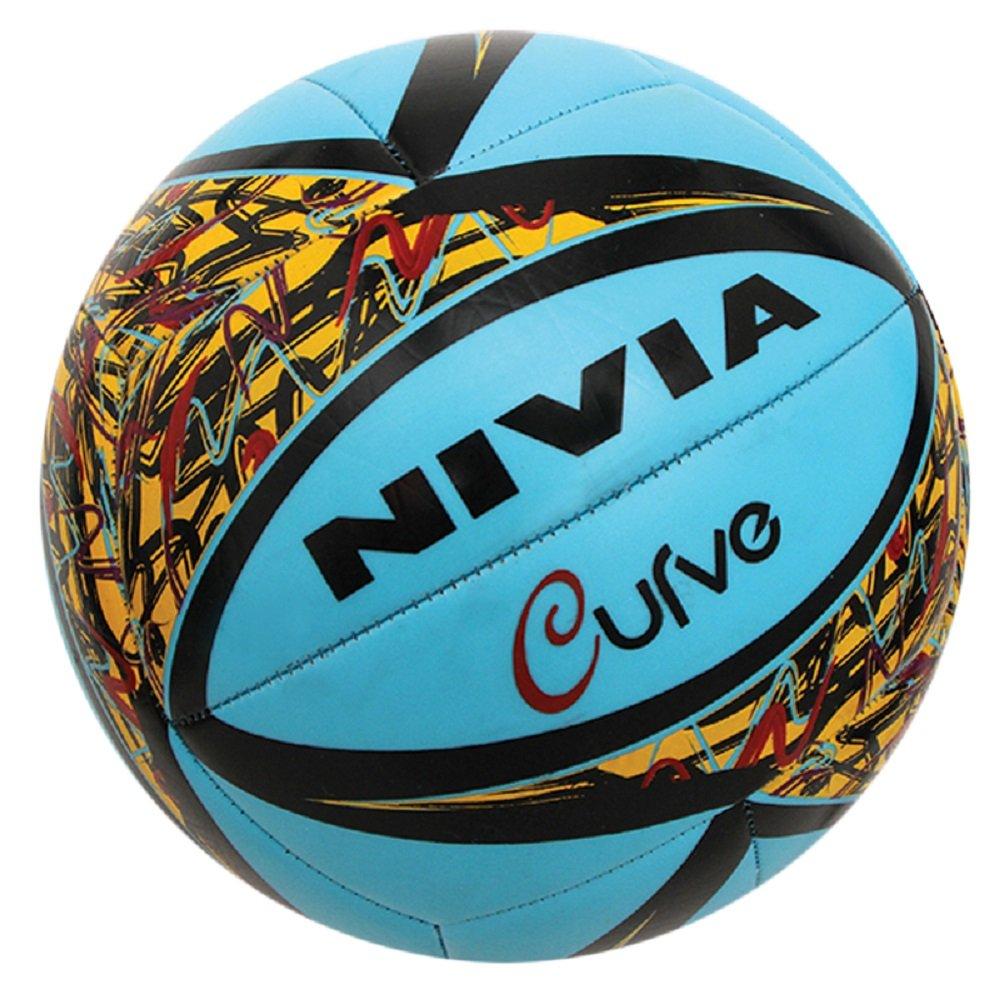 NiviaカーブマシンステッチTpuバレーボールトレーニングボール、サイズ4 -選択色 – ブルー B01LNMOSI8