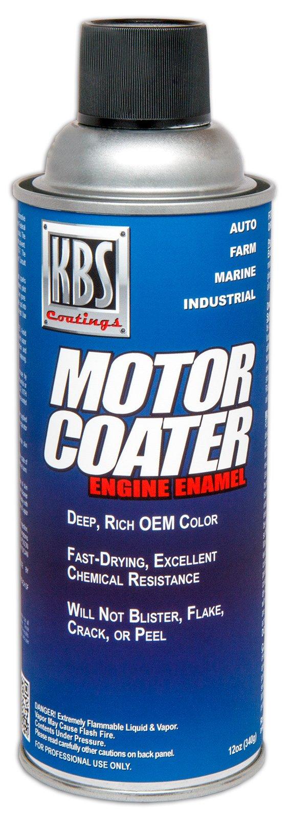 KBS Coatings 60109 Fire Red Motor Coater Engine Paint - 12 fl. oz.