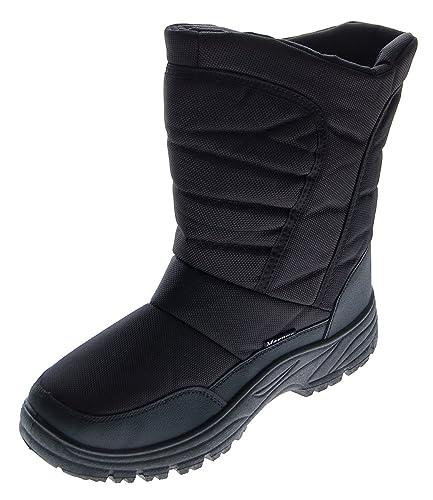 ea54995d854252 Magnus Herren Winter Stiefel gefüttert Schwarz Herrenschuhe Reißverschluss  Outdoor Boots Schnee Schuhe Gr. 45  Amazon.de  Schuhe   Handtaschen