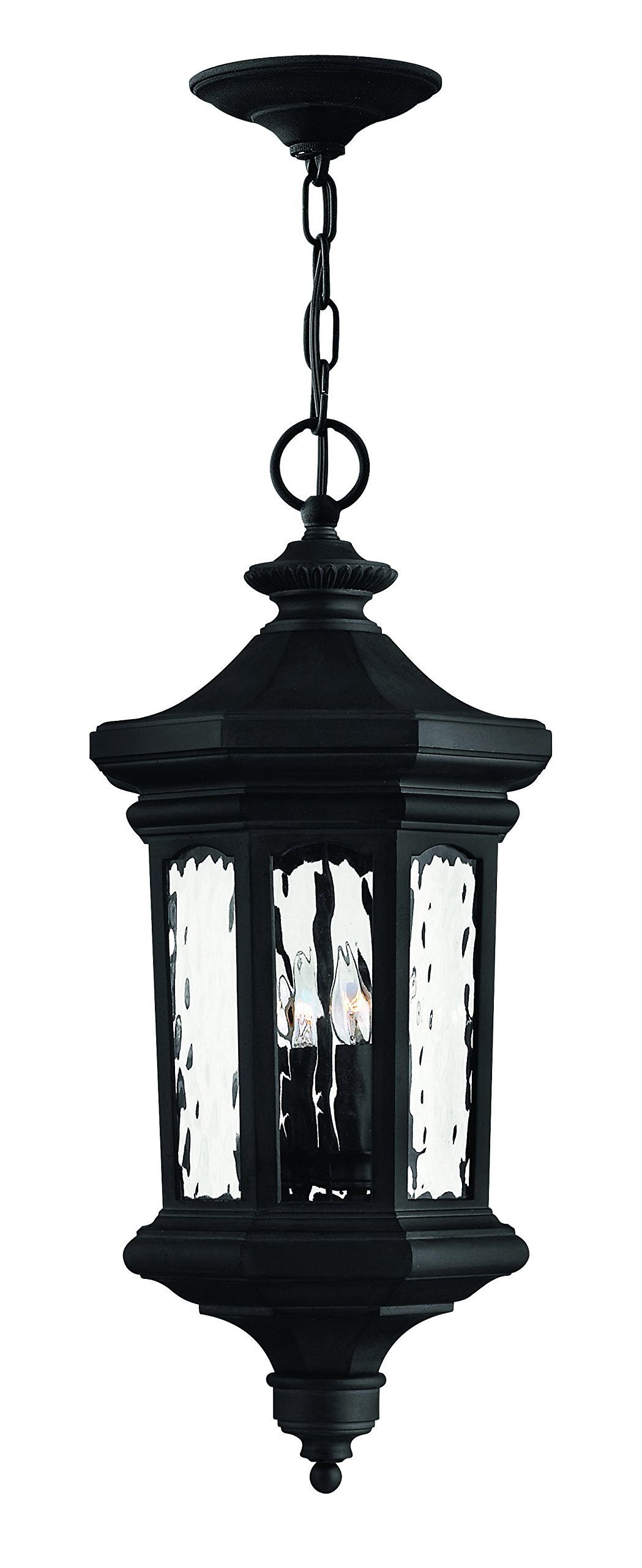 Hinkley 1602MB Traditional Four Light Hanging Lantern from Raley collection in Blackfinish,