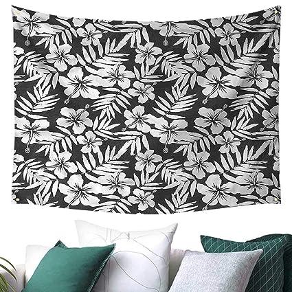 amazon com tropical beach throw blanket exotic hibiscus flower 80w rh amazon com